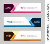 banner background. modern... | Shutterstock .eps vector #1232324698