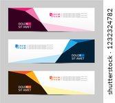 banner background. modern... | Shutterstock .eps vector #1232324782