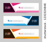 banner background. modern... | Shutterstock .eps vector #1232324848