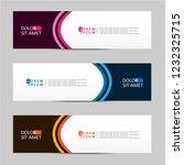 banner background. modern... | Shutterstock .eps vector #1232325715