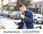 young business man allways work   Shutterstock . vector #1232339935