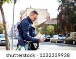 young business man allways work   Shutterstock . vector #1232339938