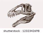 graphical vintage skull of... | Shutterstock .eps vector #1232342698