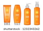 sunscreen icon set. realistic... | Shutterstock .eps vector #1232343262