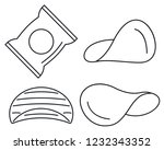 chips icon set. outline set of... | Shutterstock .eps vector #1232343352