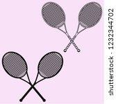 tennis racket and ball vector... | Shutterstock .eps vector #1232344702