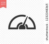 speedometer icon simple... | Shutterstock .eps vector #1232348365