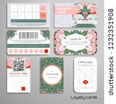 set of loyalty cards.  indian... | Shutterstock .eps vector #1232351908