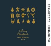 christmas decoration with... | Shutterstock .eps vector #1232354698