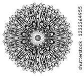 mandala. for design  greeting... | Shutterstock .eps vector #1232364955