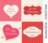 valentines day greeting cards... | Shutterstock .eps vector #123237166