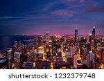 Purple Skyline Panorama Of...