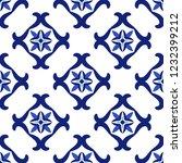 vintage seamless pattern in... | Shutterstock .eps vector #1232399212