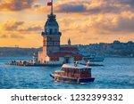 maiden's tower. wonderful... | Shutterstock . vector #1232399332