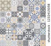 big vector set of tiles in... | Shutterstock .eps vector #1232415058