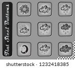 weather vector web icons on the ... | Shutterstock .eps vector #1232418385