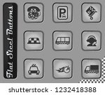 taxi services vector web icons... | Shutterstock .eps vector #1232418388