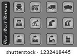 industrial vector web icons on... | Shutterstock .eps vector #1232418445