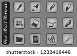 office vector web icons on the... | Shutterstock .eps vector #1232418448