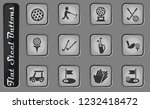 golf vector web icons on the... | Shutterstock .eps vector #1232418472