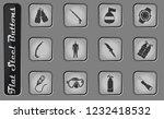 equipment for diving vector web ... | Shutterstock .eps vector #1232418532