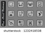 mobile phones vector web icons... | Shutterstock .eps vector #1232418538