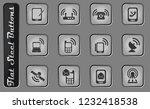 mobile phones vector web icons... | Shutterstock .eps vector #1232418538