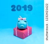 piggy bank with gift for...   Shutterstock . vector #1232421622