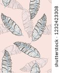 tropical seamless pattern with... | Shutterstock .eps vector #1232423308