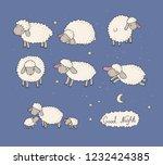Cute Cartoon Sheep Set. Farm...