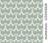 vintage seamless damask pattern.... | Shutterstock .eps vector #1232433628