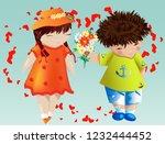 happy valentine's day. love... | Shutterstock .eps vector #1232444452