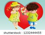 happy valentine's day. love... | Shutterstock .eps vector #1232444455