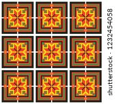 colored embroidery like cross... | Shutterstock .eps vector #1232454058