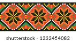 colored embroidery like cross... | Shutterstock .eps vector #1232454082