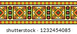 colored embroidery like cross... | Shutterstock .eps vector #1232454085