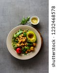 salad with chickpeas  avocado ... | Shutterstock . vector #1232468578