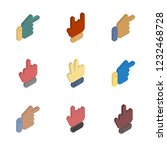 icons set hand gestures... | Shutterstock . vector #1232468728