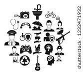 personnel department icons set. ...   Shutterstock . vector #1232471932