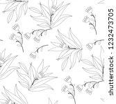 vector flower black white... | Shutterstock .eps vector #1232473705