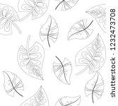 vector flower black white... | Shutterstock .eps vector #1232473708