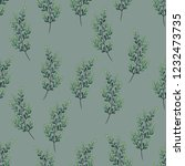 seamless pattern with leaf.... | Shutterstock .eps vector #1232473735