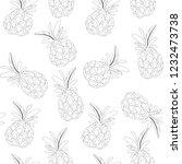 vector flower black white... | Shutterstock .eps vector #1232473738