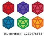 flat dice set six pack | Shutterstock .eps vector #1232476555