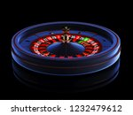 blue casino roulette wheel... | Shutterstock . vector #1232479612