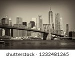 view on financial district in... | Shutterstock . vector #1232481265