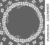 template with flowers. wreath... | Shutterstock .eps vector #1232484805