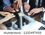 close up .multinational... | Shutterstock . vector #1232497435