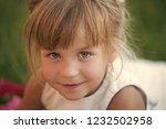 child beauty  look. girl with... | Shutterstock . vector #1232502958