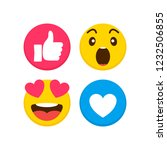 set of emoticon with flat... | Shutterstock .eps vector #1232506855